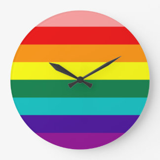 First Rainbow Pride Flag Large Clock
