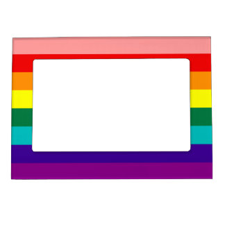 First Rainbow Pride Flag Magnetic Frame