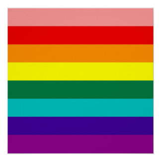 First Rainbow Pride Flag Poster