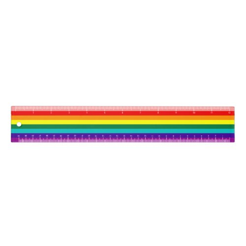 First Rainbow Pride Flag Ruler