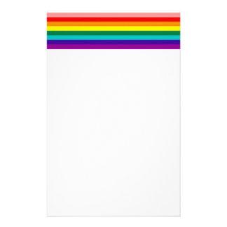 First Rainbow Pride Flag Stationery