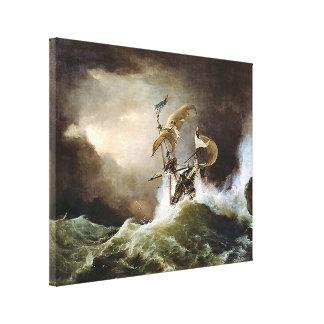 First rate Man-of-War Canvas Print