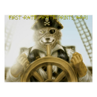FIRST-RATE PIRATE PRINTS ARR FIRST RATE POSTERS