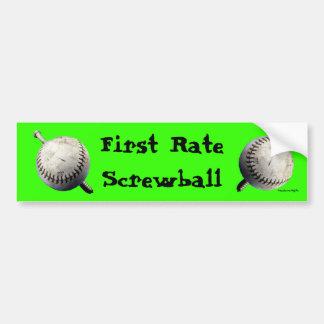 First Rate Screwball Bumper Sticker