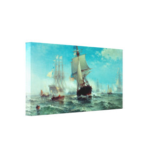 First Recognition of American Flag Canvas Print
