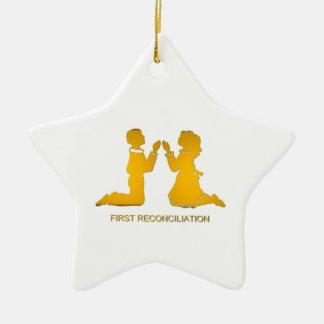 First Reconciliation Ceramic Ornament