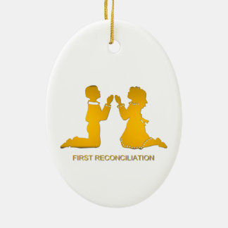 First Reconciliation Ceramic Ornament
