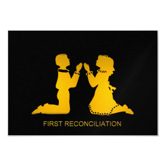 "First Reconciliation 3.5"" X 5"" Invitation Card"