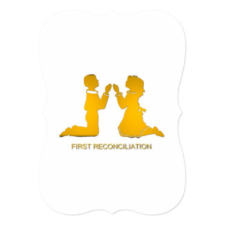 "First Reconciliation 5"" X 7"" Invitation Card"