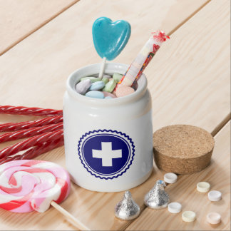 First Responder Blue Health Care Cross Candy Dish