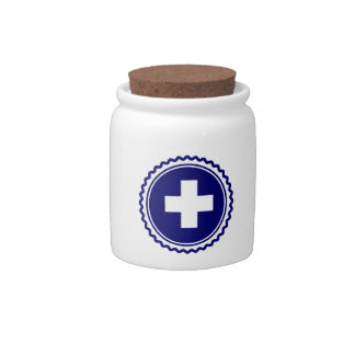 First Responder Blue Health Care Cross Candy Jars