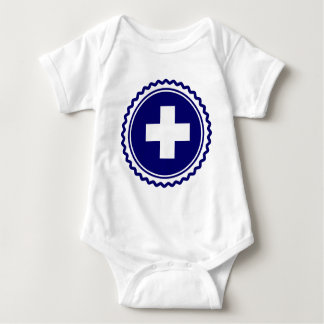 First Responder Blue Health Care Cross Infant Creeper