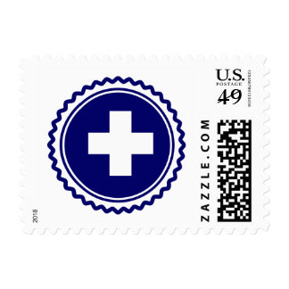 First Responder Blue Health Care Cross Stamp