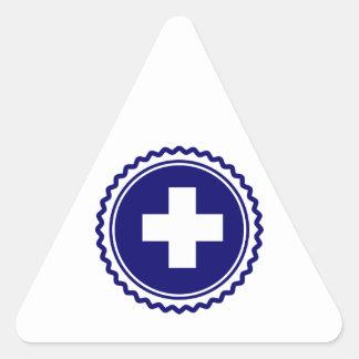 First Responder Blue Health Care Cross Triangle Sticker