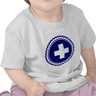 First Responder Blue Health Care Cross T Shirt