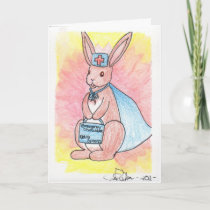 First Responder Bunny Get Well Soon Card