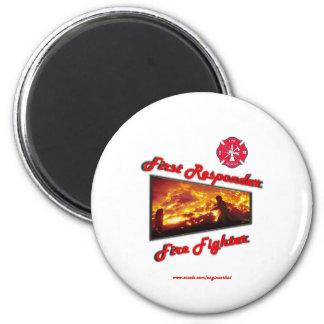 First Responder Fire Fighter 2 Inch Round Magnet