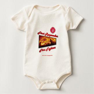 First Responder Fire Fighter Baby Bodysuit