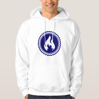 First Responder Firefighter Blue Flame Badge Hoody