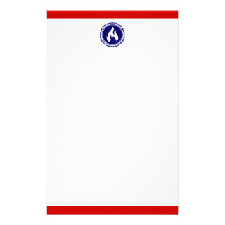 First Responder Firefighter Blue Flame Badge Stationery