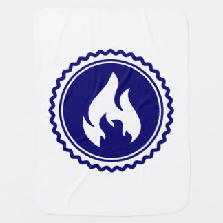 First Responder Firefighter Blue Flame Badge Stroller Blanket