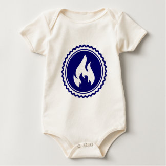 First Responder Firefighter Blue Flame Badge Baby Bodysuits