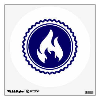 First Responder Firefighter Blue Flame Badge Wall Decal