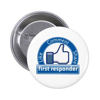 First Responder Pinback Button