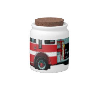 first responder truck candy jar