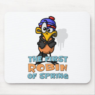First Robin Mouse Pad