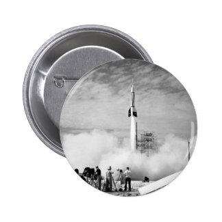 "First Rocket Launch, Cape Canaveral, ""Bumper 2"" 2 Inch Round Button"
