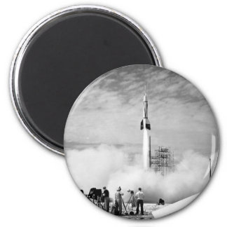 """First Rocket Launch, Cape Canaveral, """"Bumper 2"""" Magnet"""