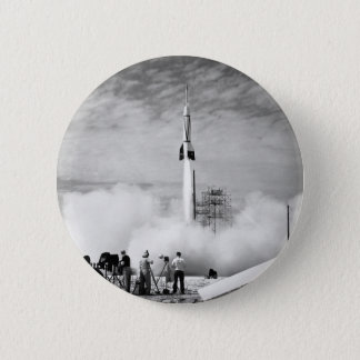"""First Rocket Launch, Cape Canaveral, """"Bumper 2"""" Pinback Button"""