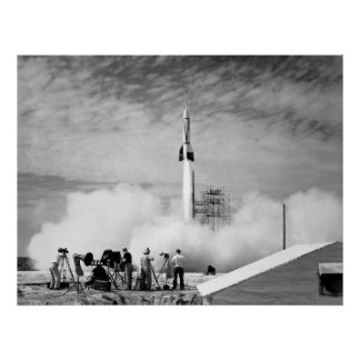 "First Rocket Launch, Cape Canaveral, ""Bumper 2"" Poster"