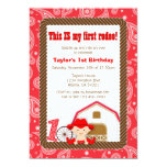 "First Rodeo Birthday Invitation 5"" X 7"" Invitation Card"