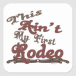First Rodeo Square Sticker