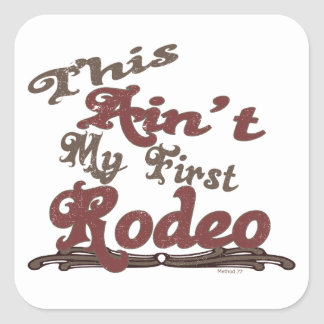 First Rodeo Square Stickers