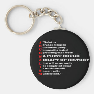 First Rough Draft of History. Basic Round Button Keychain