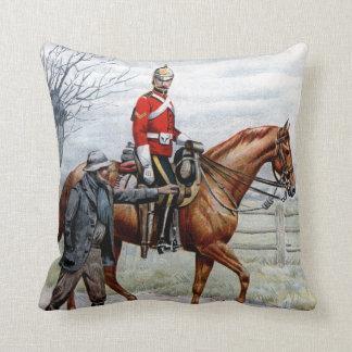 First Royal Dragoons Throw Pillow