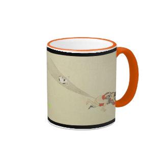First Scroll, Ancient Japanese Fart Battles Ringer Mug