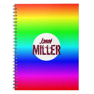 First & second name customize noteB multi-colored Notebook