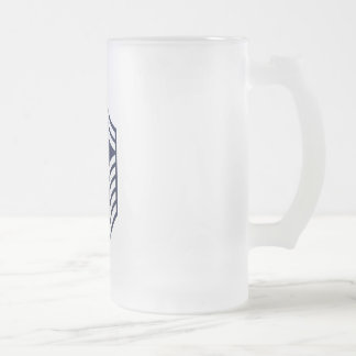 First Sergeant E-8 Frosted Glass Beer Mug
