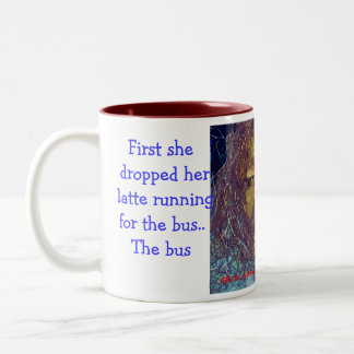 First she dropped her latte Two-Tone coffee mug