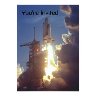 First Shuttle Launched 5x7 Paper Invitation Card