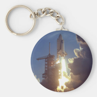 First Shuttle Launched Basic Round Button Keychain