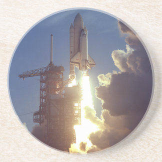 First Shuttle Launched Drink Coaster