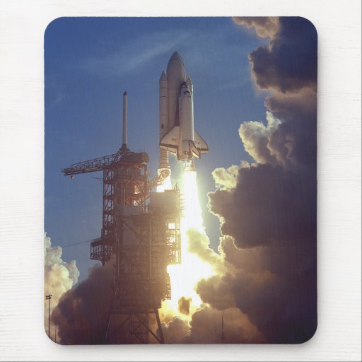 First Shuttle Launched Mouse Pad