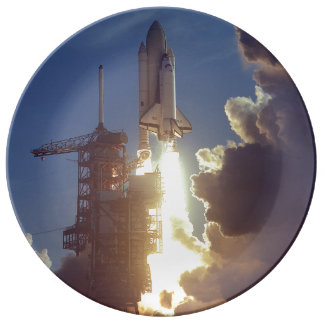 First Shuttle Launched Porcelain Plate