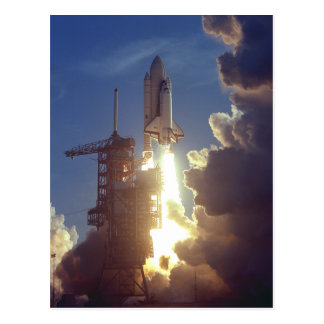 First Shuttle Launched Postcard