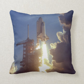 First Shuttle Launched Throw Pillows